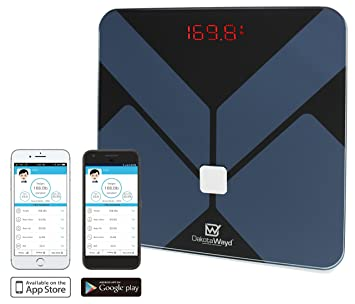 Bluetooth Body Fat Scale with iOS and Android App Smart Wireless Digital  Bathroom Scale for Body