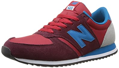 New Balance Mens U420 Pop Safari Pack Running Shoe,Red/Blue,11.5 D