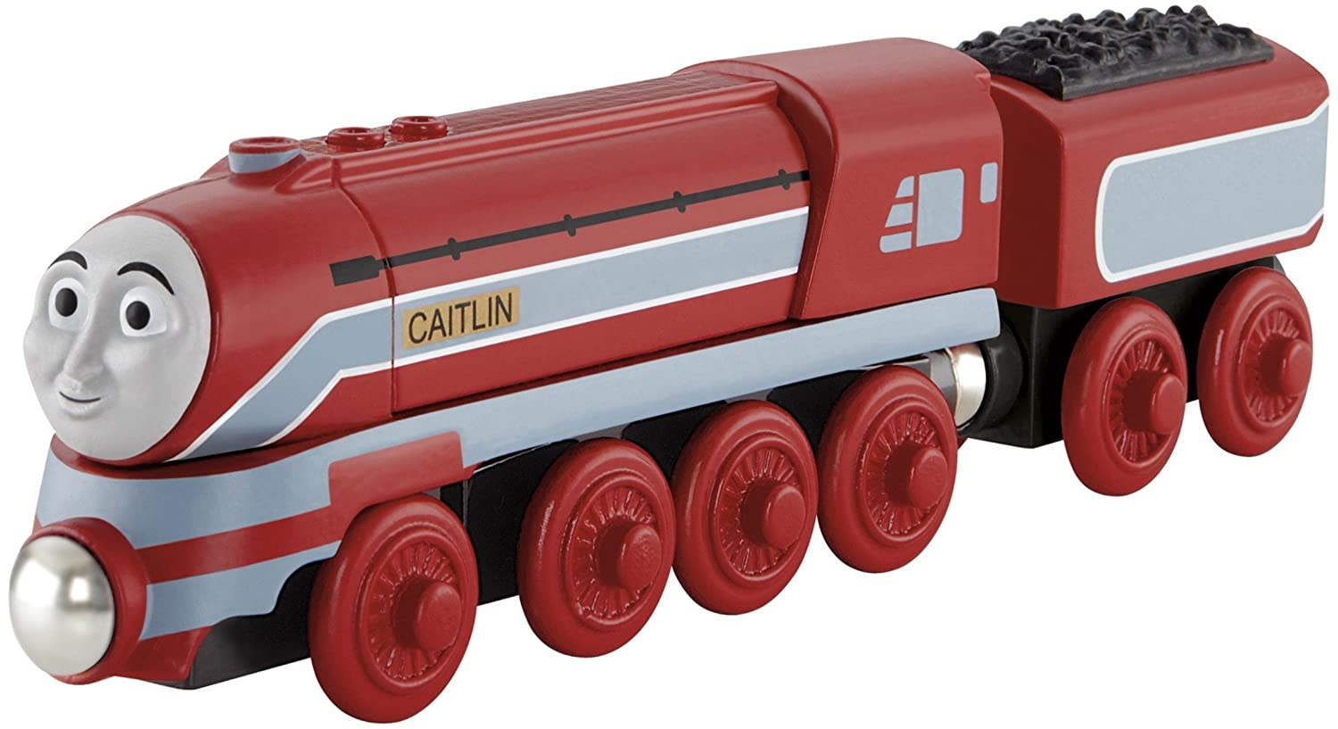 Thomas and Friends Wooden Railway Toy - Caitlin Engine - King of the Railway - Real Wood Thomas & Friends Y5856