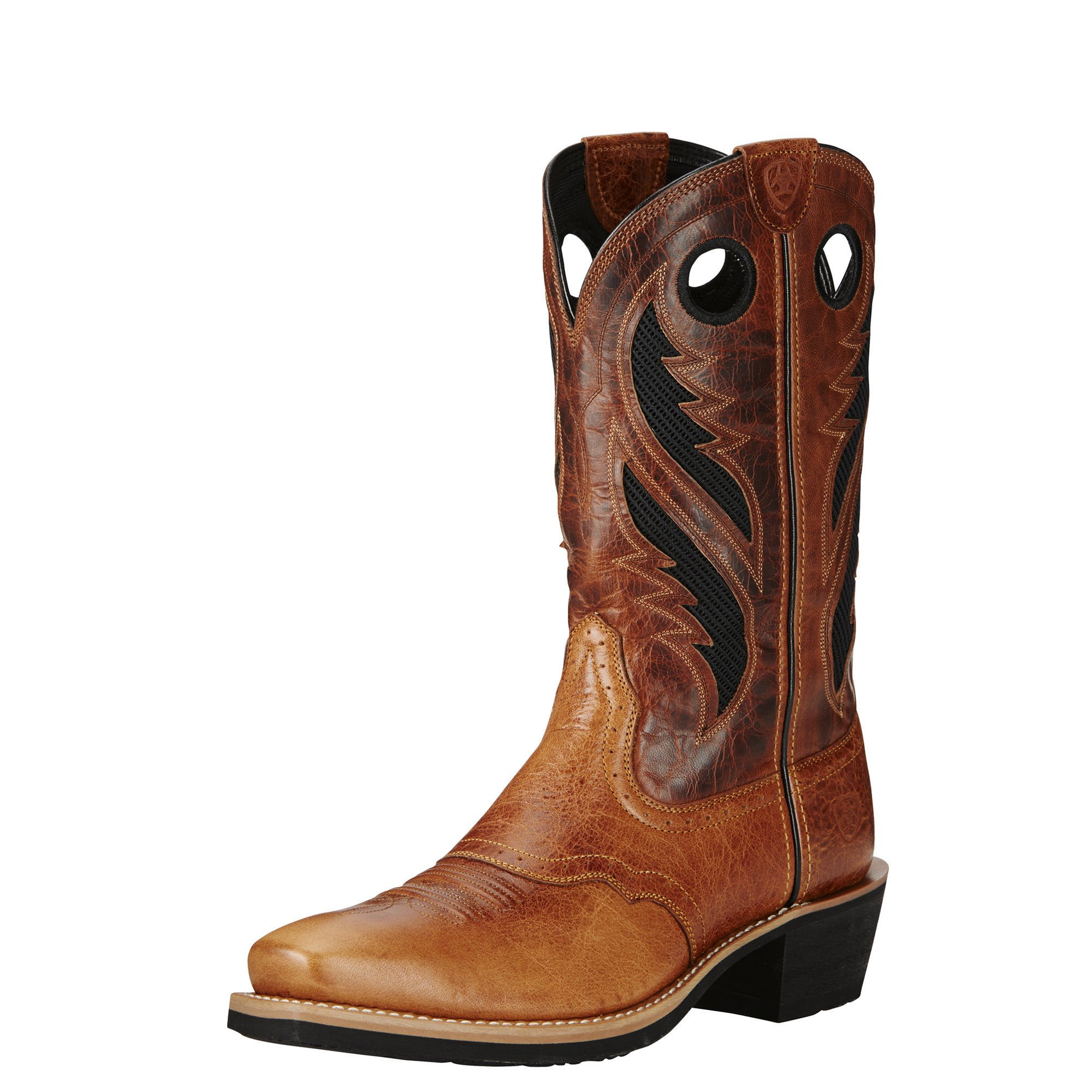 Ariat Men's Heritage Roughstock Venttek Western Cowboy Boot, Gingersnap, 9.5 2E US