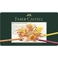 Faber-Castell Colour Pencils Polychromos 60 Colour Pencils Box, Without Block, Tin of 60 (18-110060)