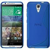 Funda de silicona para HTC Desire 620 - S-Style azul - Cover PhoneNatic Cubierta + protector de pantalla