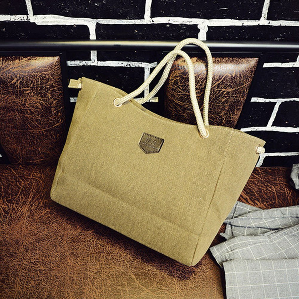 Vessos New Women Canvas Plaid Tote Shoulder Bag Handbag Satchel Lady Messenger Bag