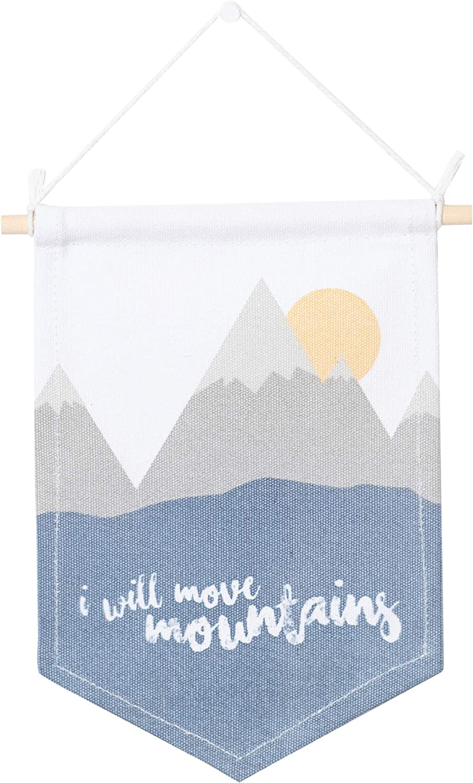 Lulujo 0628233459329 Wall Art Banner Mouve Mountains