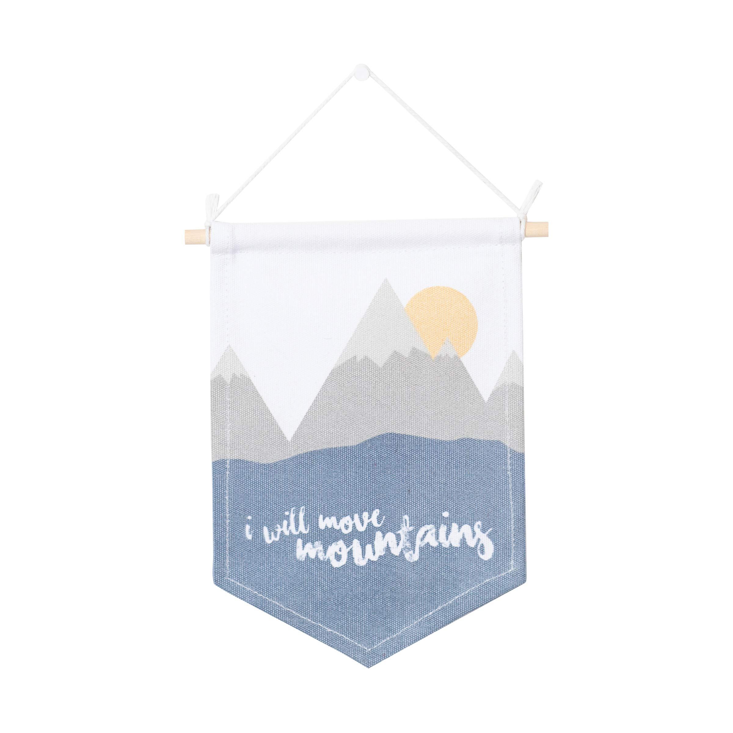 lulujo Baby Wall Art Banner, Move Mountains