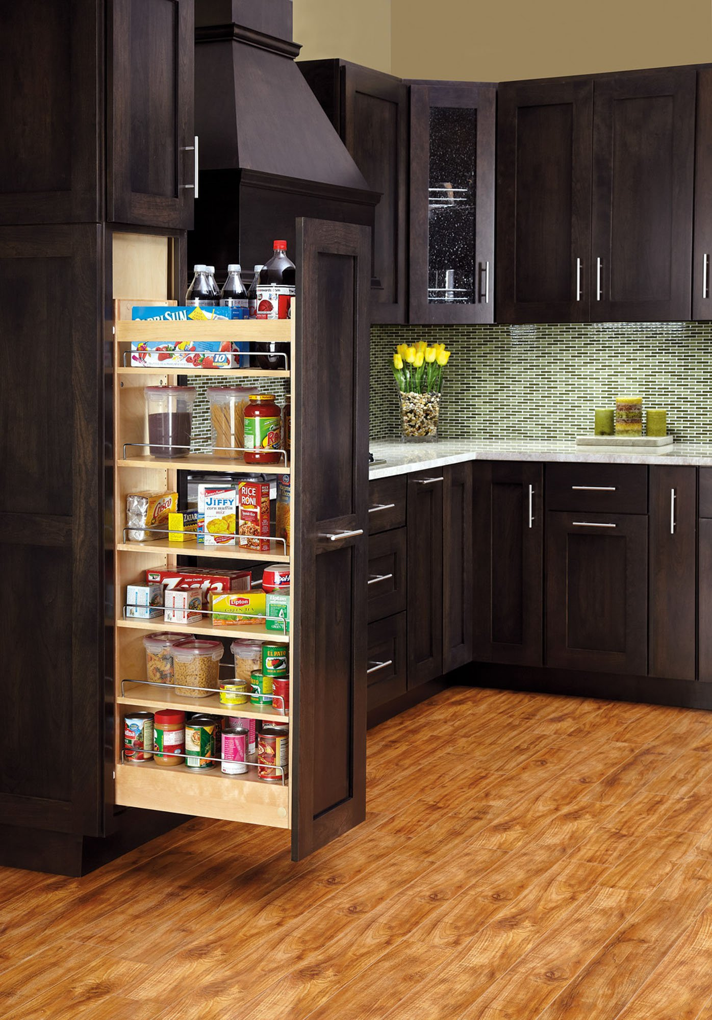 Rev-A-Shelf 448-TP43-8-1 Pull-Out Wood Cabinet Pantry, 8 by 43'', Natural by Rev-A-Shelf