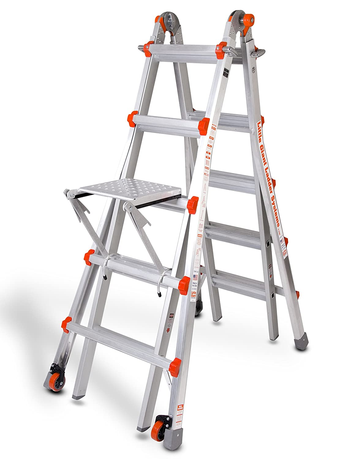 Little Giant Classic 10103lgw 300 Pound Duty Rating Always Help Staircase Diagram East Coast Stairs Company Inc Ladder System With Work Platform 22 Foot Home Improvement