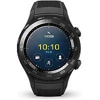 Huawei Watch 2 Smartwatch, 4 GB ROM, Wear OS by Google, Bluetooth, Wifi, Monitoraggio della Frequenza Cardiaca, Schermo da 390 x 390 Pixel, GPS + Glonass, Nero (Carbon Black)