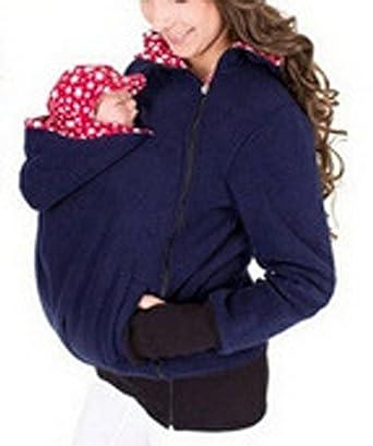 Turbomsun Femme Sweat À Capuche 3 en 1 Maternité Pull Molletonné Bébé  Écharpe Automne Hiver de 9b34d120292
