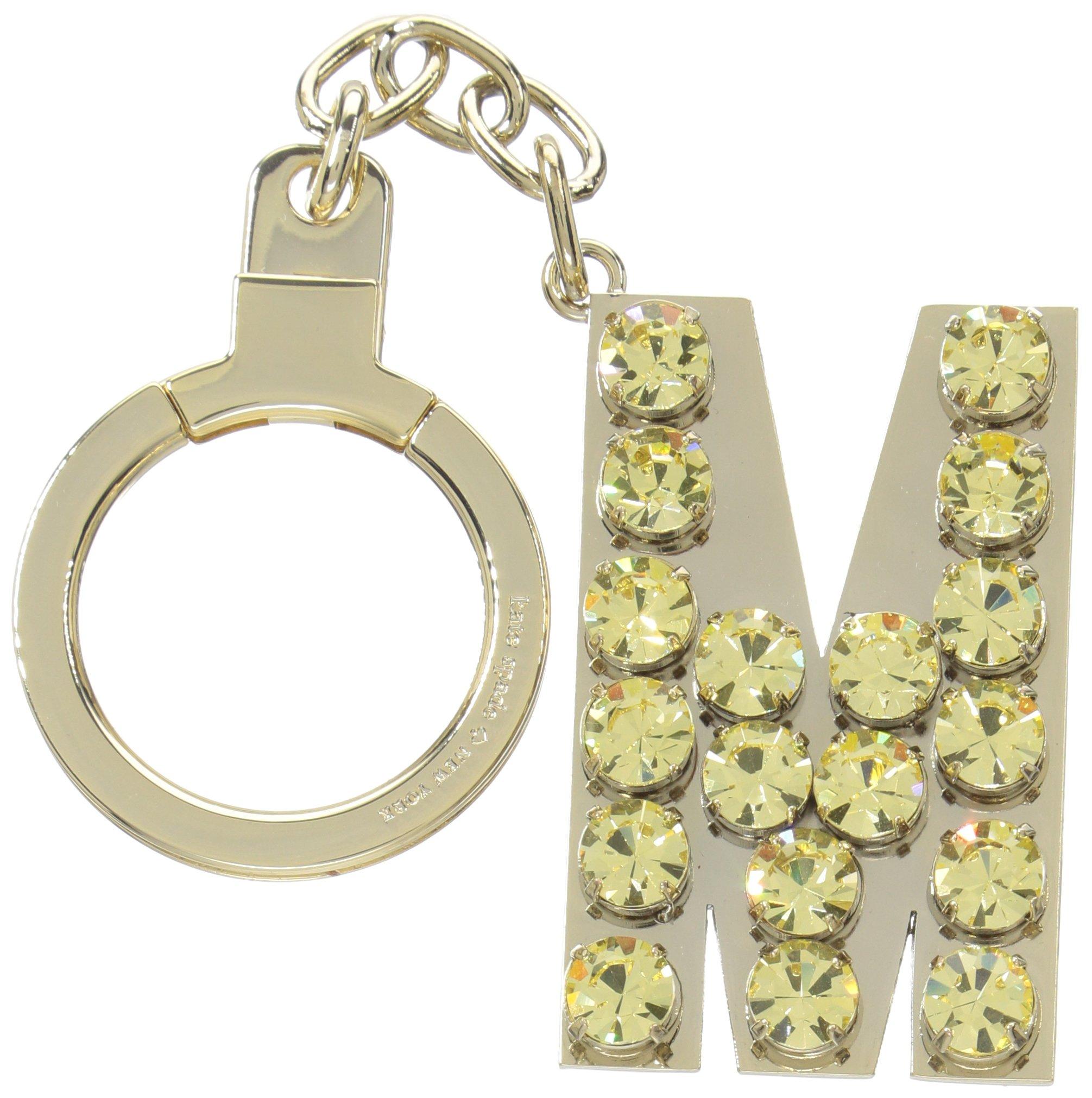 kate spade new york Kate Spade Key Fobs Jeweled M Initial, Yellow