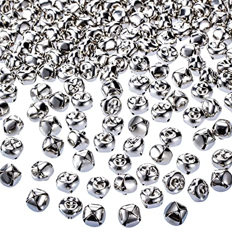 500 Silver JINGLE BELLS~Christmas Bell~Beads Charms 6mm Decoration DIY Craft