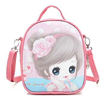 8079d741b9c7 Image Unavailable. Image not available for. Color  New DG Super Cute  Children Cartoon Baby Backpack Toddler Kids School Bag (Pink)