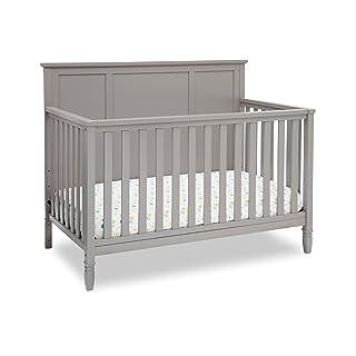 Delta Children Easton 4-in-1 Convertible Baby Crib, Grey