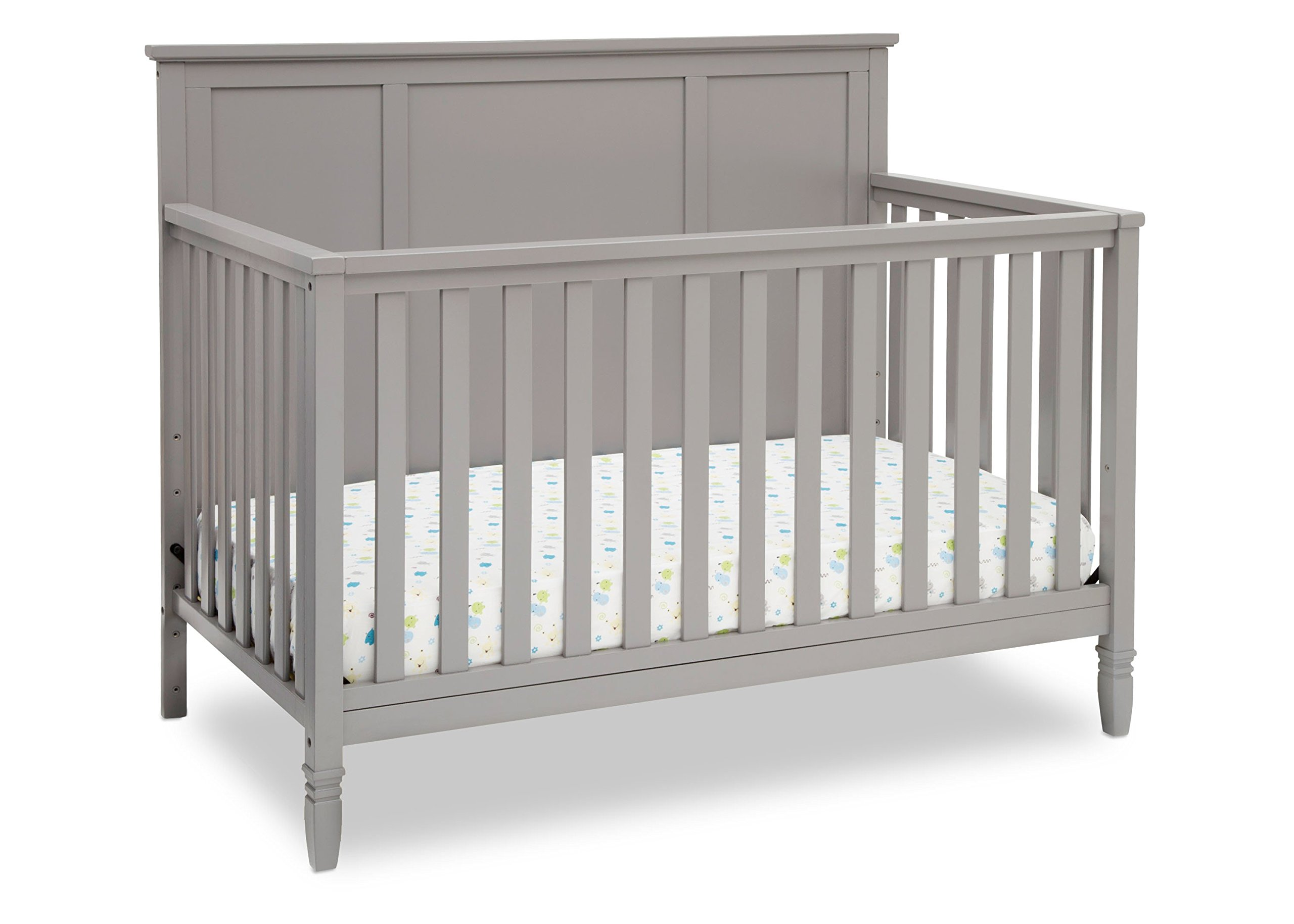 Delta Children Easton 4-in-1 Convertible Crib, Grey