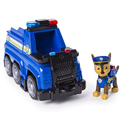 PAW Patrol Chase's Ultimate Rescue Police Cruiser with Lifting Seat and Fold-Out Barricade for Ages 3 and Up: Toys & Games