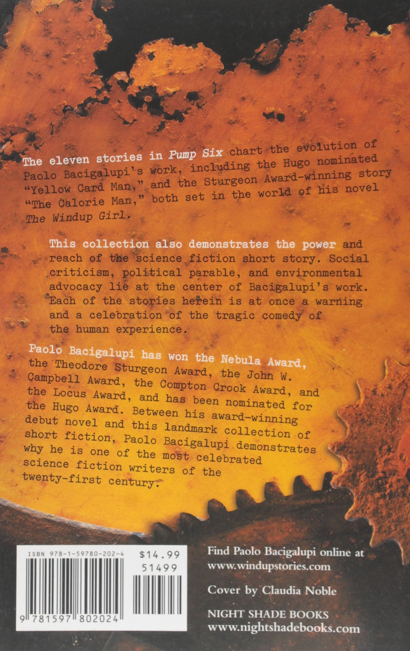 Pump Six And Other Stories: Paolo Bacigalupi: 9781597802024: Amazon:  Books