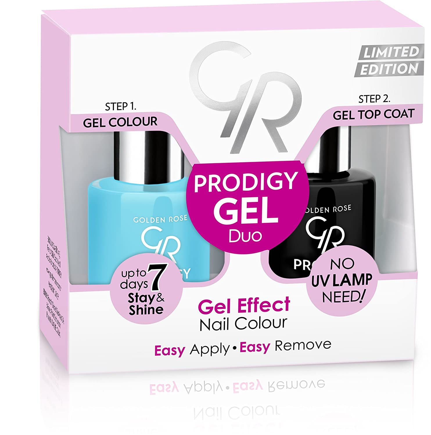 Amazon.com : Golden Rose Prodigy Gel Effect Nail Color Duo- No:08 ...
