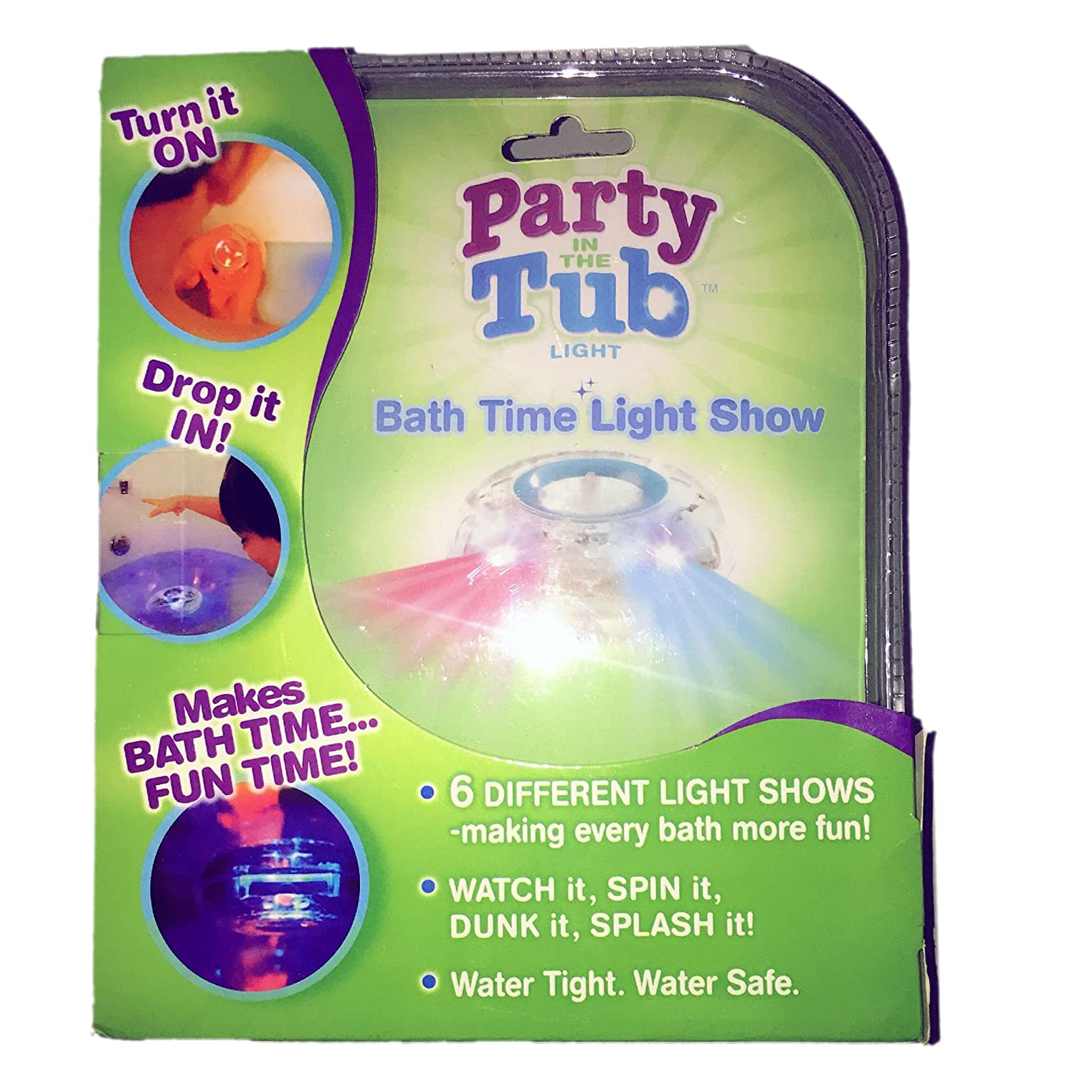 Amazon.com: Party in the Tub Toy Bath Water LED Light Kids ...
