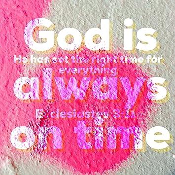 Amazoncom Bible Quotes Belfast 500 X 500 Print God Is Always On