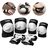 Haomaomao Knee Pads for Kids/Youth/Child, Knee Pad and Elbow Pads Wrist Guards Protective Gear Set for Roller Skates…