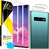 [2+2 Pack ] BAZO Flexible TPU Screen Protector for Samsung Galaxy S10+/Samsung Galaxy S10 Plus (6.4 inch) + Camera Lens Prote
