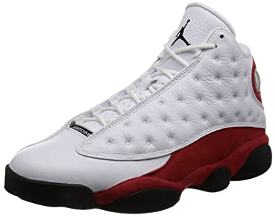 Jordan Men Air 13 Retro (white/black-team red) Size 8.0 US