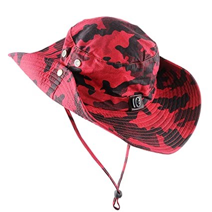 148a15a9e2567 Micoop Wide Brim Military Camouflage Hat Summer Fishing Hunting Camping  Hiking Cap Outdoor Sun Hat Boonie