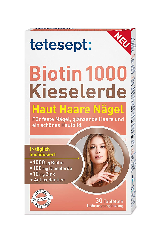 Tetesept Biotin 1000 Kieselerde Nahrungsergänzungsmittel Mit