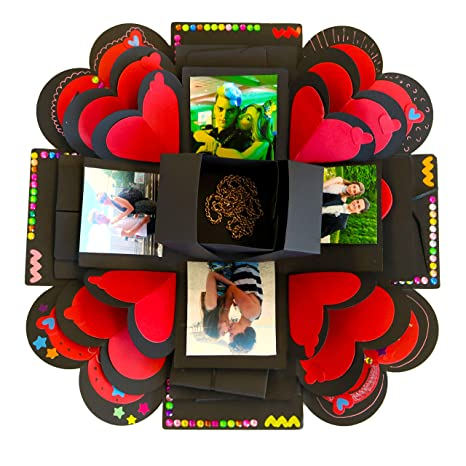 3 Layer Explosion Gift Box Set Diy Surprise Photo Album Creative Scrapbook Kit With Accessories Pens Adhesive Tape Gifts For Boyfriend Girlfriend