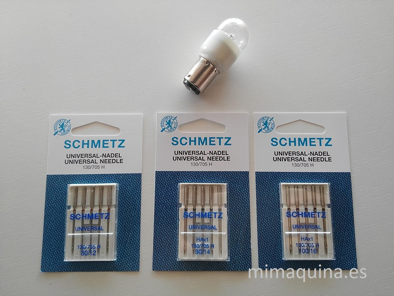 3 Juegos de agujas + lampara LED bayoneta para máquinas de ...