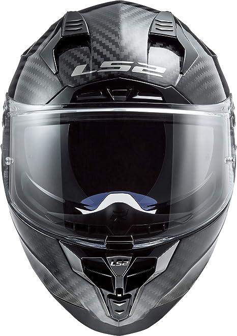 Negro//Oro LS2 Casco de moto FF327 CHALLENGER CT2 GRID MATT CARBON GOLD XS