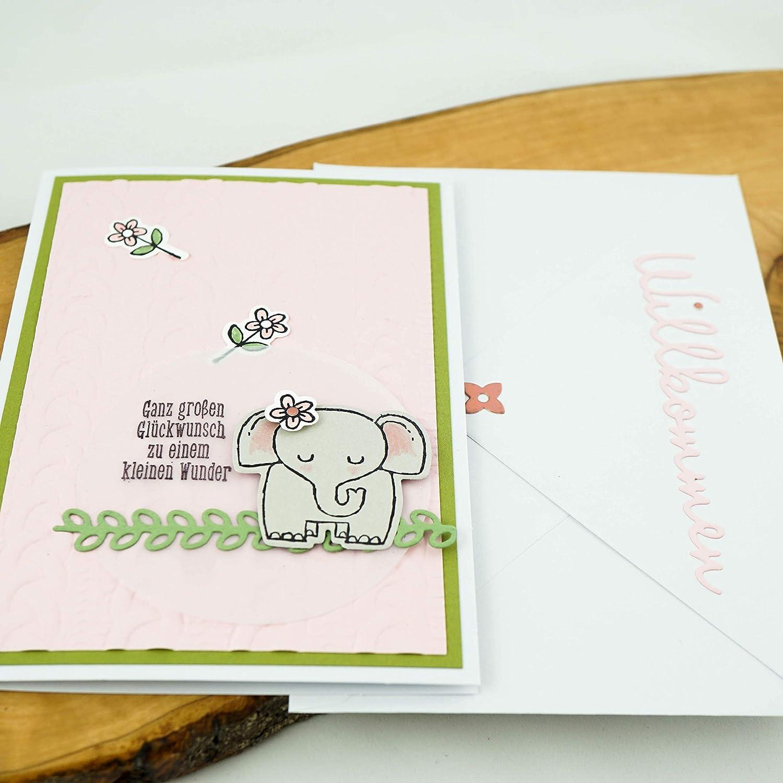 Glückwunschkarte Geburt Mädchen Junge Geburtskarte Karte Edel Glanzeffekt