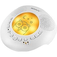 SOAIY Amelioré Veilleuse Bébé Portable,Lampe de Nuit Aide Sommeil avec 6 Sons de la Nature Relaxants et Apaisants, Minuterie Automatique