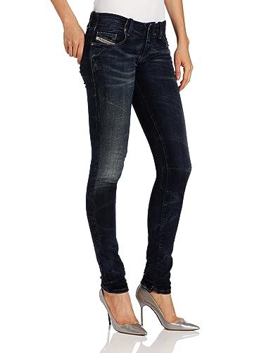 Diesel Skinny Jeans Grupee Ne Blau Im Washed-out-look