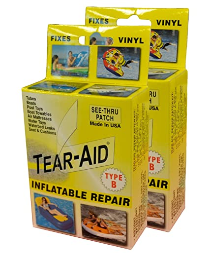 tear aid vinyl inflatable repair kit yellow box type b