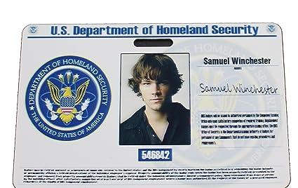 Badge Products Id Sam Office Supernatural Amazon Cia com