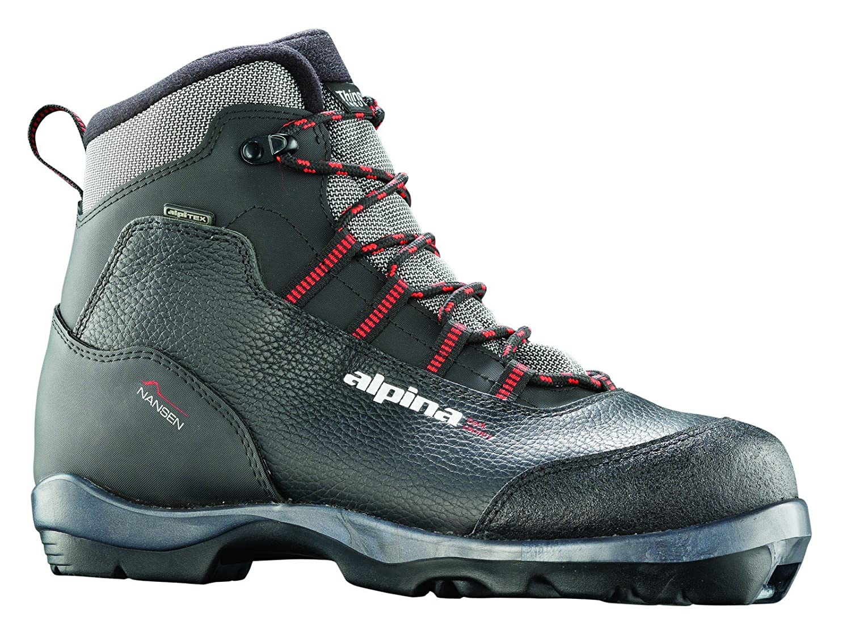 alpina Nansen Leder wartet Nordic Langlauf Ski Stiefel  für Verwendung mit nnn bc Bindung schwarz