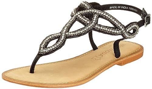 Vero Moda Vmliv Leather Sandali con Cinturino alla Caviglia Donna Oro