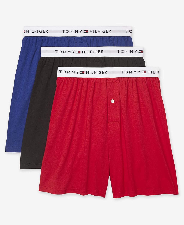 Tommy Hilfiger Mens Underwear 3 Pack Cotton Classics Knit Boxers