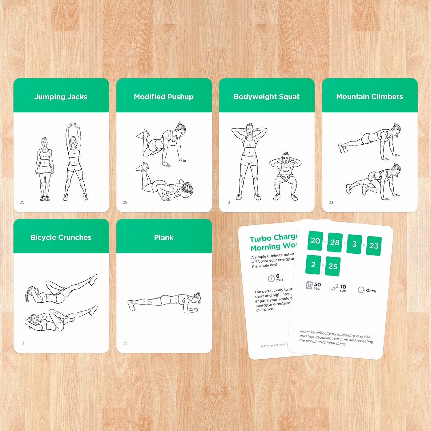 graphic regarding Printable Exercise Cards referred to as : Conditioning Playing cards Top quality Visible Weight