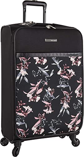 VINCE CAMUTO Women's Carry-on Hardside Spinner 1, Black LILLIES, 20