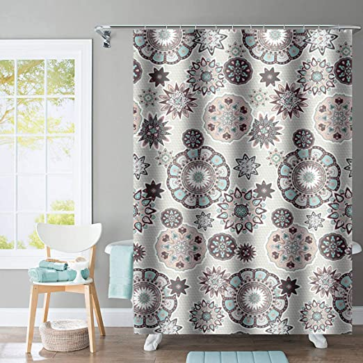Pineapple On Wooden Board Bathroom Polyester Fabric Shower Curtain 71Inches