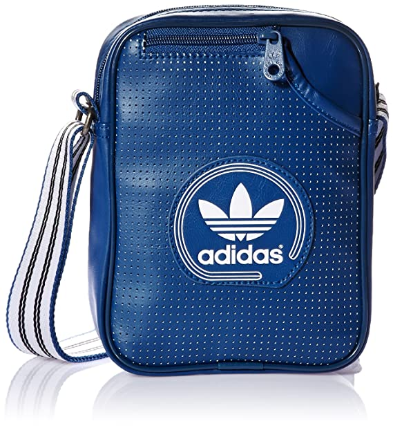 adidas - Mini Bolsa de Hombro Perforada, Color Blue - Shadow ...