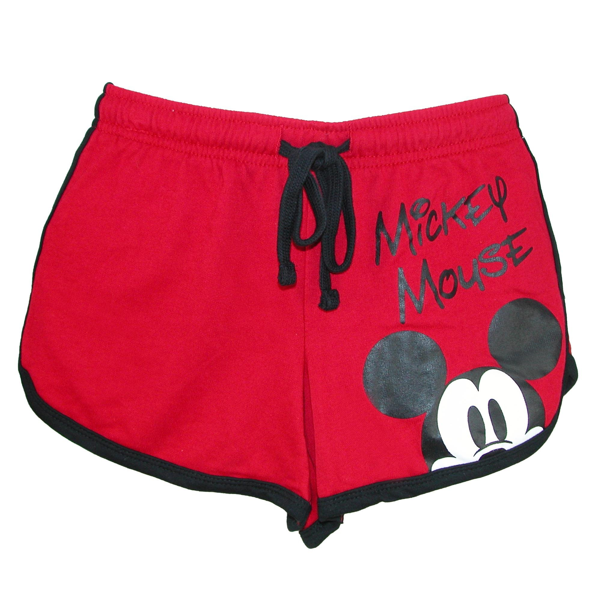 Disney Junior Ladies Mickey Mouse Peeking Short Red X-Large
