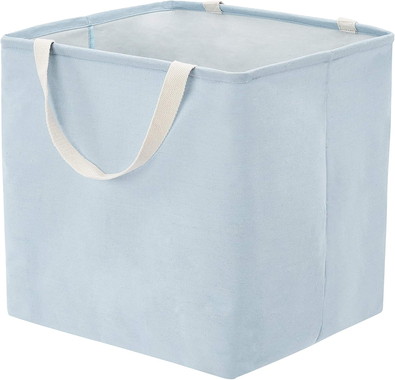 AmazonBasics Fabric Storage Bin - Large Cube, Dusty Blue