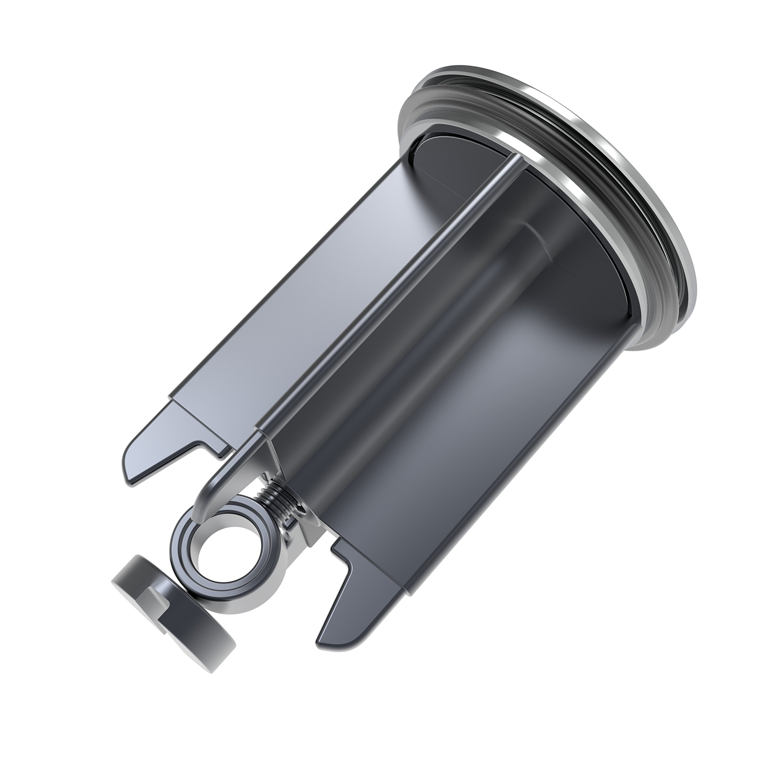 M. ROSENFELD Premium Sink Plug 40mm Chrome - Universal Stopper For Bathroom Sinks and Bidets - Height Adjustable, Stainless and Limescale Resistant, The Perfect Seal