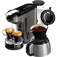Philips Senseo HD6596/50 Switch Premium 2-in-1 Kaffeemaschine (Chrome, Metall)