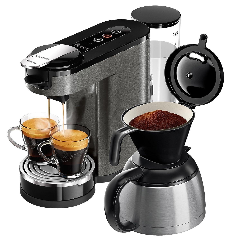 Senseo HD6596/50 - Cafetera (Independiente, Máquina de café en cápsulas, 1 L, Dosis de café, De café molido, 1450 W, Negro, Titanio): Amazon.es: Hogar