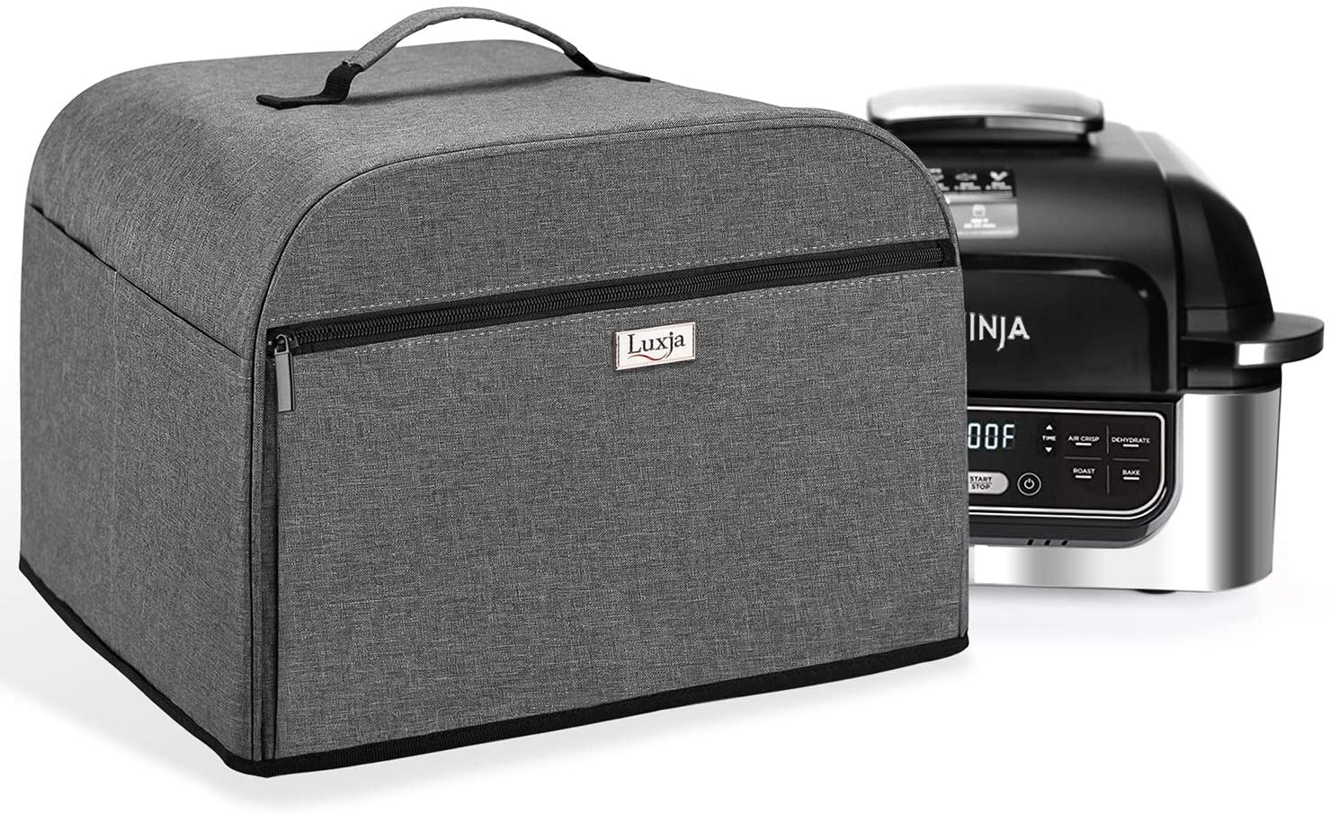 Luxja Dust Cover Compatible with Ninja Foodi Grill (AG301, AG302, AG400), Cover with Storage Pockets, Gray