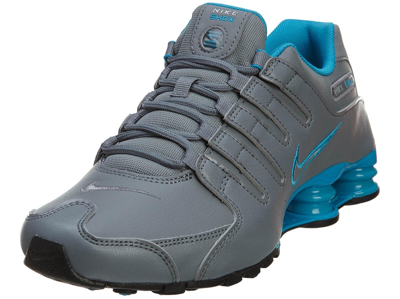 e2745daff6fa hot products Nike Shox NZ Men Running Shoes Cool Grey Metallic Silver-blue  Lagoon